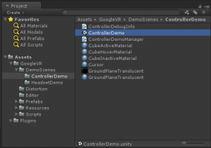 unity-googlevr-project-list